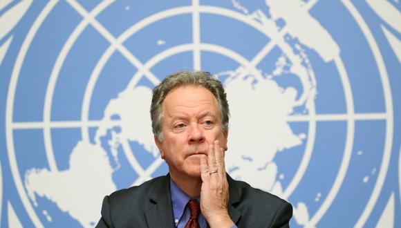 El director ejecutivo del Programa Mundial de Alimentos (PMA), David Beasley, asiste a una conferencia de prensa en Ginebra. Archivo del 4 de diciembre de 2018. (REUTERS/Denis Balibouse).