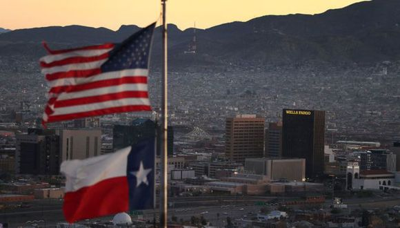El Paso, Texas, es una de las principales ciudades en la frontera de EE.UU. y México. Foto: Getty Images, via BBC Mundo