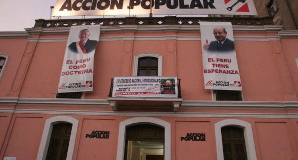 Acción Popular cuenta con 240,000 militantes en todo el país, pero no tiene dirigentes con mandato vigente. (Foto: GEC)