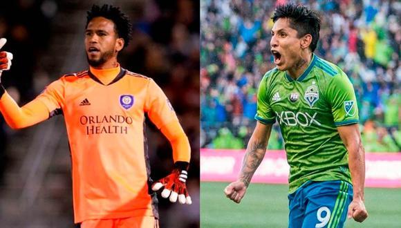 Pedro Gallese y Raúl Ruidíaz son rivales en la MLS | Foto: Composición.
