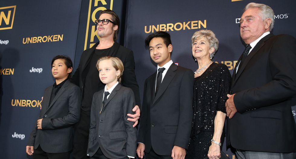 Brad Pitt e hijos tomaron lugar de Angelina Jolie en premiere - 1