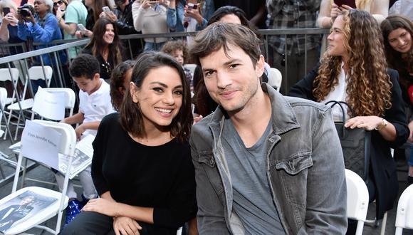 Ashton Kutcher y Mila Kunis revelaron el truco para distraer a sus hijos en esta cuarentena. (AFP).