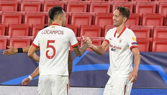 Sevilla celebró su primera victoria en la presente edición de la Champions League al ganarle 1-0 al Rennes jugando como local | Foto: Twitter Sevilla FC