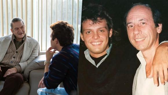 (Izquierda) César Bordon (Hugo López) junto a Diego Boneta (Luis Miguel) en iuna escena de la serie. Foto: Netflix