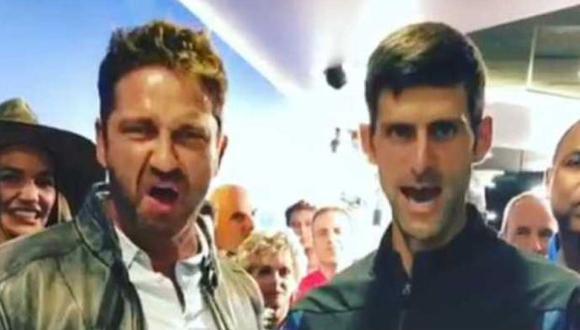 "Djokovic celebró a lo ""300"". (Foto: captura de pantalla)"