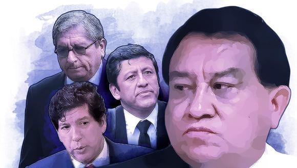 El aspirante a colaborador eficaz Pablo Morales dijo que para llegar al CNM se necesitaban recursos económicos y José Luna, fundador de Podemos Perú, se ofreció a financiar la campaña de quienes luego se convertirían en sus aliados. (Composición: GEC)