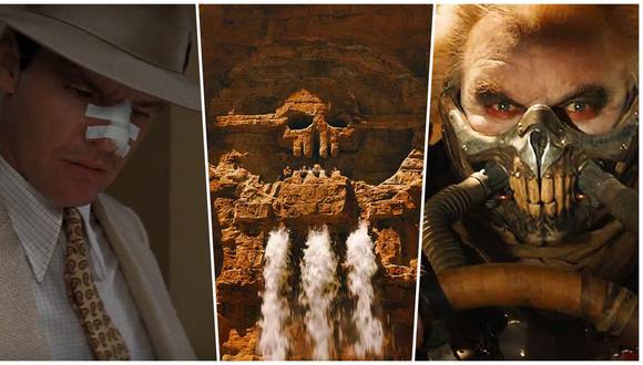 """A la izquierda, Jack Nicholson en """"Chinatown"""", película en la que el control del agua desata una tragedia. al centro y a la derecha, escenas de """"Mad Max: Fury Road"""", donde el agua es un lujo y la sed algo demasiado común. Fotos: Paramount/ Warner Bros."""