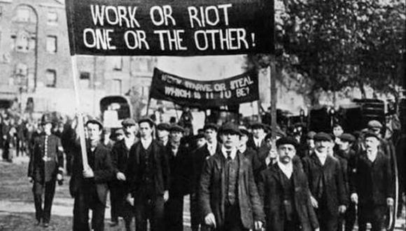 La Revuelta de Haymarket en la que acusaron a los Mártires de Chicago. (Foto: Archivo)