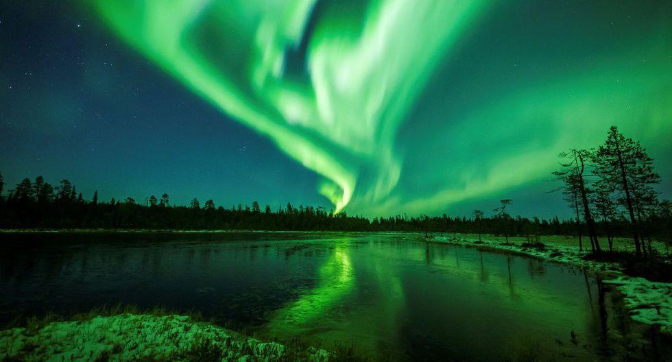 La Aurora Boreal se ve sobre el cielo cerca de Rovaniemi en Laponia, Finlandia. (Foto: Reuters)
