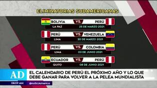 Estás son las próximas fechas de la Selección Peruana en las Eliminatorias Qatar 2022
