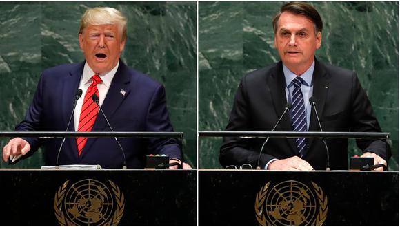 Analizamos cuánto de lo que dijeron los presidentes de Brasil y Estados Unidos durante la 74 Asamblea General de la ONU era verdadero, falso o impreciso. (Reuters)