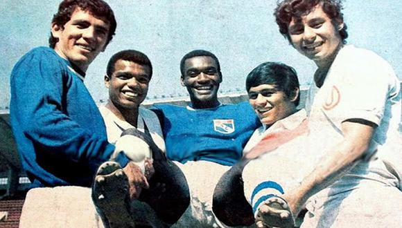 Ídolos del fútbol peruano: Ramón Mifflin, Teófilo Cubillas, Alberto Gallardo, Hugo Sotil y Roberto Chale. FOTO: Ovación.