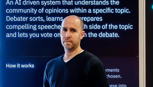 Antes de empezar con Project Debater, Slonim se preguntó si este nuevo uso de la inteligencia artificial sería inspirador para la audiencia en general. (Foto: IBM)