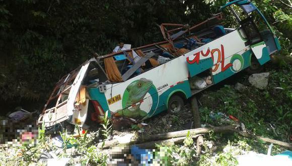 Junín: chofer de bus que cayó a un abismo fue enviado al penal