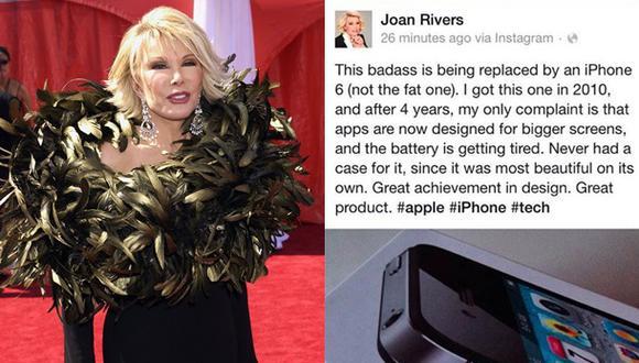 ¿Joan Rivers promueve el iPhone 6 desde el más allá?