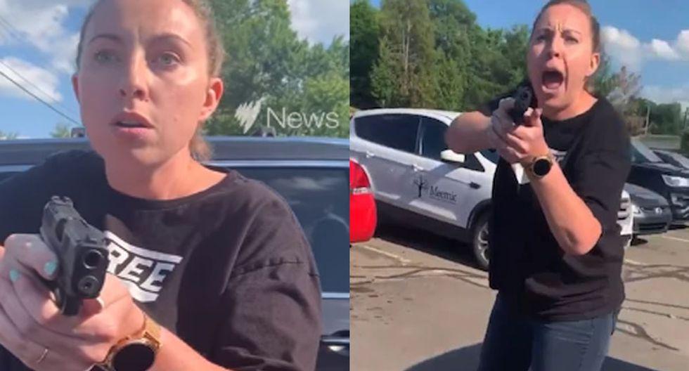 La discusión acabó con un momento de terror luego que la mujer apuntara con su pistola a la familia afroamericana. | Foto: Takelia Hill/Facebook