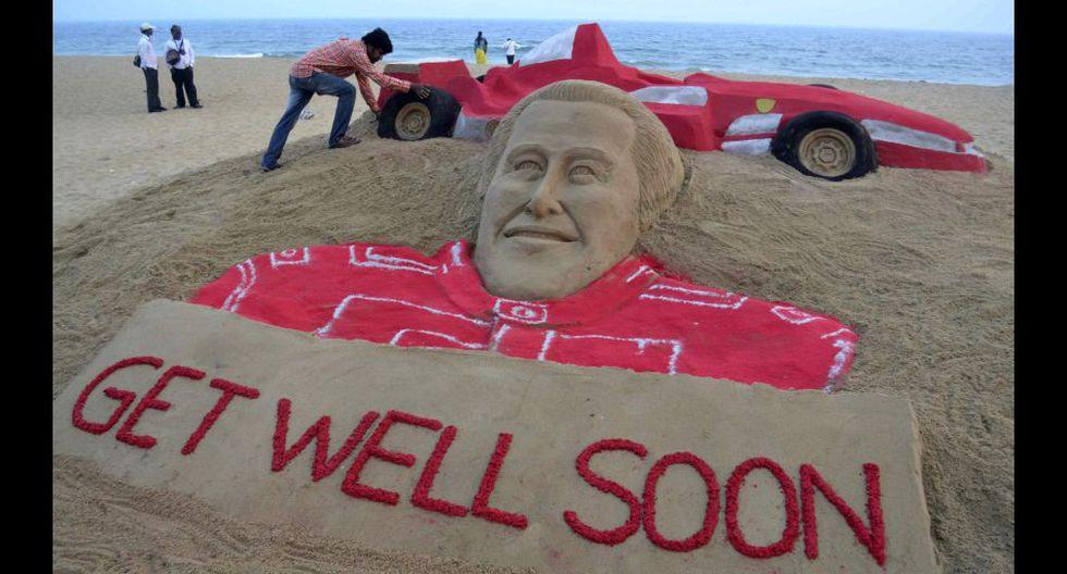 Los fanáticos de Michael Schumacher muestran de diferentes maneras su apoyo al piloto [FOTOS] - 1