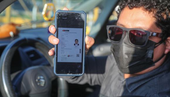 La licencia electrónica se puede descargar en el celular, computadora o tableta. (Foto: MTC)