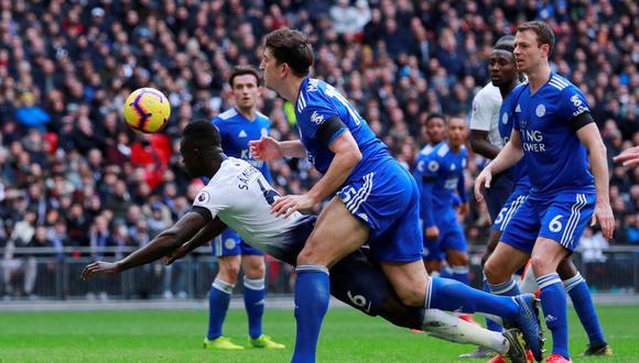 Con goles de Davinson Sánchez, Christian Eriksen y Son, Tottenham venció 3-1 a Leicester City por la jornada 26° de la Premier League. (Foto: AP)