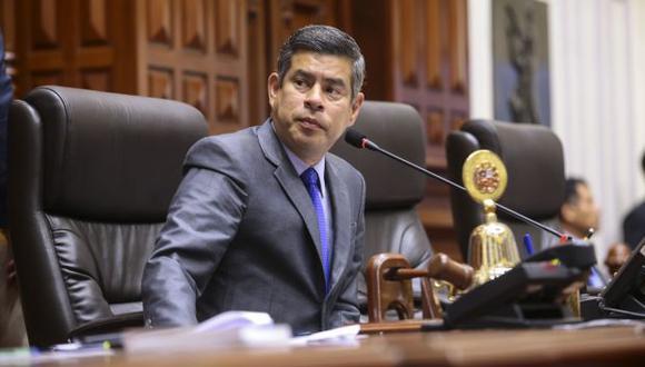 Siete congresistas de cuatro bancadas han pedido la censura del presidente del Congreso, Luis Galarreta (Fuerza Popular). (Foto: Congreso)