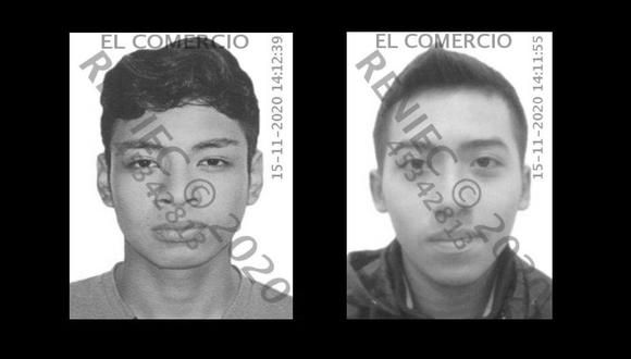 Bryan Pintado Sanchez y Jordan Inti Sotelo Carmago murieron durante la segunda marcha nacional contra el régimen de Manuel Merino.