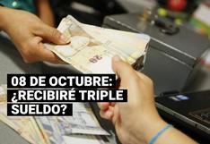 8 de octubre: ¿Se recibirá triple pago por trabajar en este día?