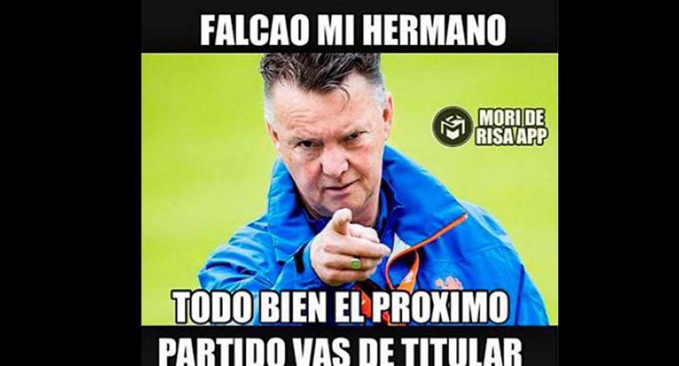 Van Gaal y los memes tras los dos goles de Falcao con Colombia - 16