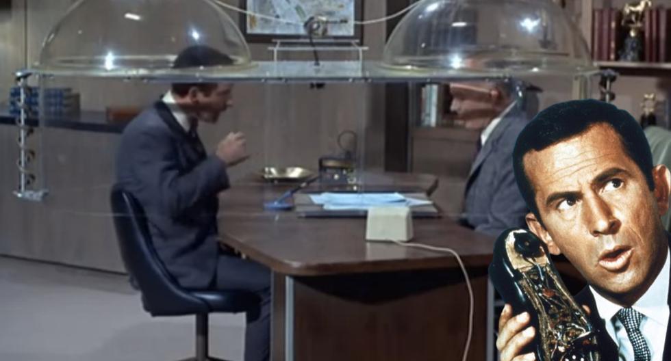 """El """"Cono del Silencio"""", uno de los aparatos secretos más recordados de la serie que inmortalizó a Don Adams como un genio de la comicidad estadounidense. (Fotos: ilovegetsmart.com)"""