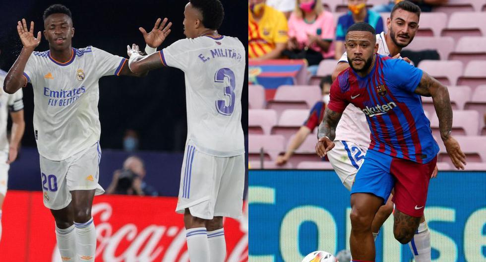 Vinícius y Depay, los llamados a brillar en el Real Madrid y el Barza. (Foto: EFE / AFP)