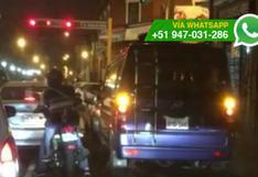 Taxis colectivo generan tráfico en calles del Cercado de Lima