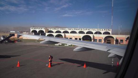 En julio la empresa operó con el 10% de lo conseguido en un mes 'normal' de antes de la pandemia. Con uno o dos vuelos por aerolínea, destaca Raúl Díaz. En la foto, el aeropuerto de Juliaca, que está nuevamente cerrado desde hoy.
