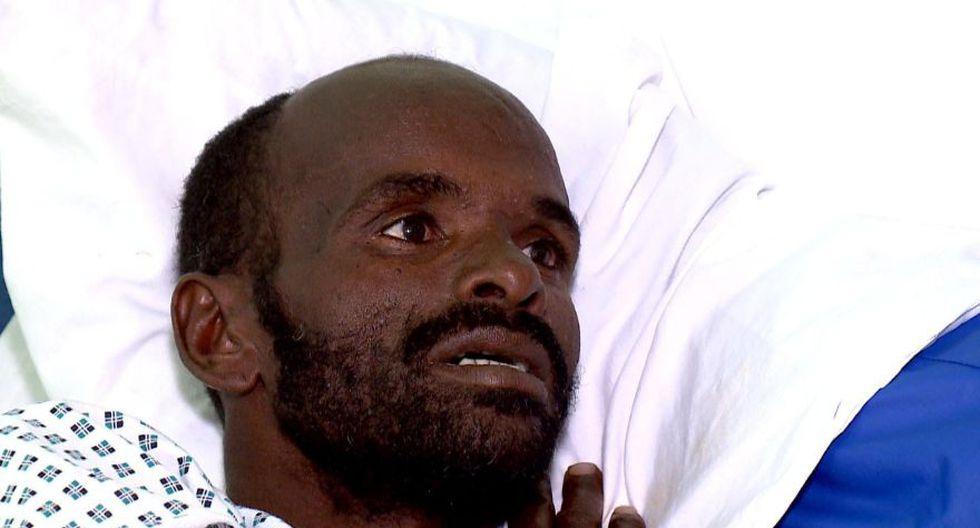Mohammed Adam Oga está siendo tratado en el hospital de Malta por deshidratación. (Foto: AP)