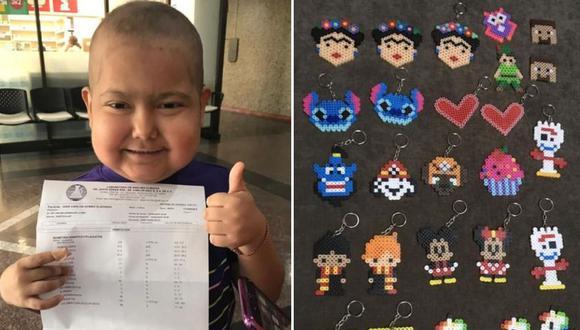 Conoce la historia de fe y perseverancia de Gian Carlos, un niño mexicano con cáncer que vende llaveros para ayudar a sus padres a costear su tratamiento médico   Foto: Facebook / Cadena de oración por Gian Carlos