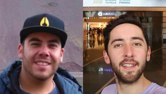 Fernando Candia y Felipe Osiadacz se encontraban de vacaciones cuando se vieron envueltos en una riña donde murió una persona. (Fotos: Facebook)
