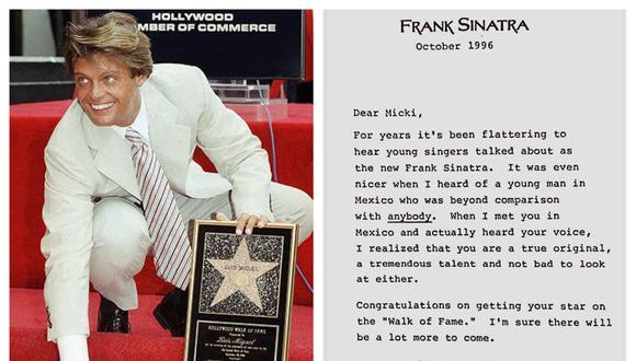 """Luis Miguel recibió una estrella en el Paseo de la Fama de Hollywood en la ciudad de Los Ángeles en 1996. (Foto: Difusión / Libro """"Oro de rey"""")"""