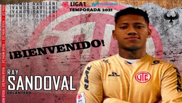 Ray Sandoval jugará en UTC de Cajamarca el 2021. (Foto: @UTC_PagOficial)