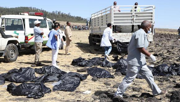 Accidente del Boeing 737 de Ethiopian Airlines: pasajeros de Estados Unidos y Canadá entre los muertos. (AFP).