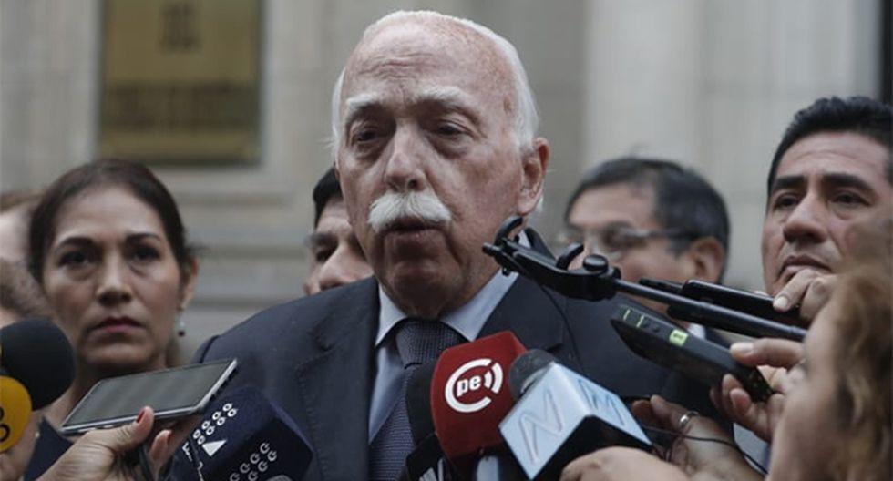 Carlos Tubino declaró luego de la reunión que Fuerza Popular sostuvo con el primer ministro, Salvador del Solar. (Foto: Renzo Salazar / GEC)