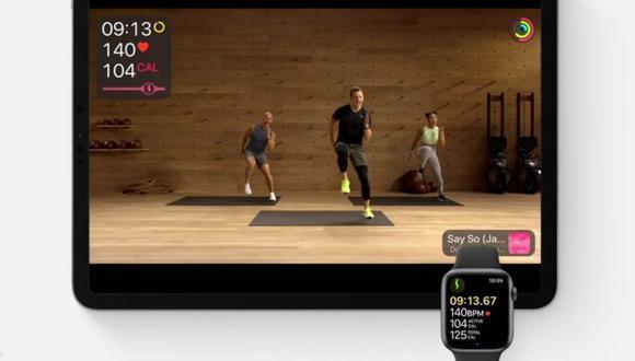 El servicio Fitness+ se puede ver en un iPhone, iPad o mediante un decodificador de Apple TV. (Imagen: Apple)