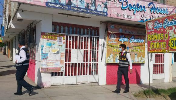 La Policía arrestó a Juan Manuel Cueva, de 32 años, e incautaron 38 pruebas valorizadas en S/5.700, en la veterinaria Dogtor House, en Nuevo Chimbote (Foto: Ministerio Público)