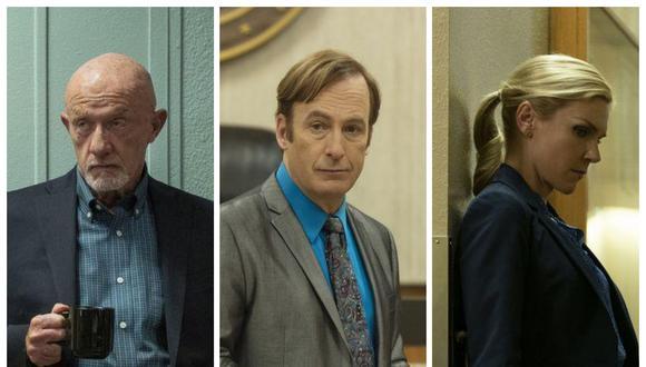 "Mike (Jonathan Banks), Kim (Rhea Seehorn) y Jimmy (Bob Odenkirk) regresan una vez más para otra temporada de ""Better Call Saul"". Fotos: AMC."