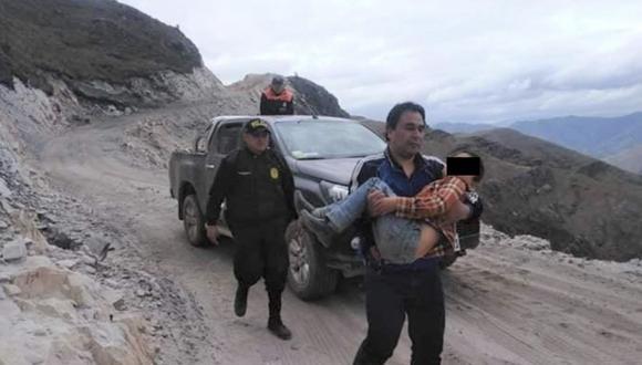 Menor caminó descalzo, solo vestido con un polo y a a más de 4,000 metros sobre el nivel del mar para conseguir ayuda para su progenitor. (Foto: Andina)
