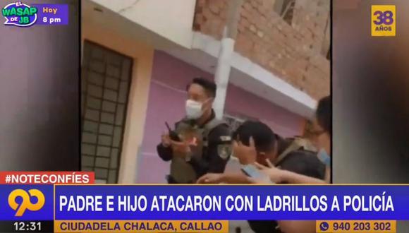 Los vecinos que vieron el ataque ayudaron al agente herido, quien presenta una fractura en el cráneo. (Foto: Latina)
