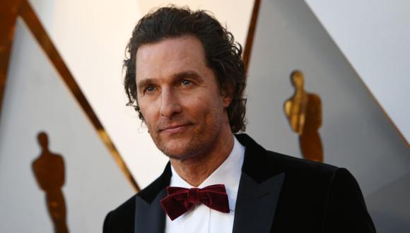 Matthew McConaughey en la entrega del Oscar 2018. (FOTO: VALERIE MACON)