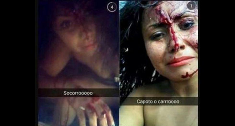 Snapchat: mujer se toma 'selfies' tras accidente de carro