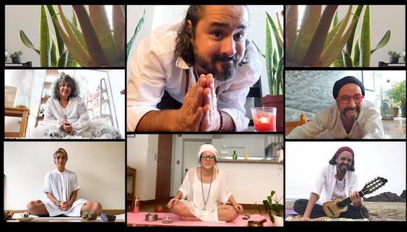 """Rómulo Assereto (centro, arriba) interpreta a tres personajes diferentes en """"Historias Virales"""". (Foto: El Comercio/YouTube)"""