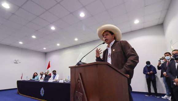 """Pedro Castillo dijo que """"como gobierno electo"""" no pueden hacer más hasta que el JNE se pronuncie. (Foto referencial: GEC)"""