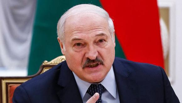 El presidente bielorruso Alexander Lukashenko habla durante una reunión con funcionarios de la Comunidad de Estados Independientes en Minsk. (Foto: Dmitry Astakhov / POOL / AFP).