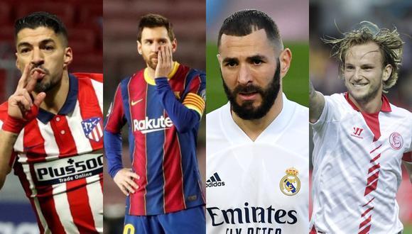 Atlético, Barcelona, Real Madrid y Sevilla pelean por el título de LaLiga Santander.