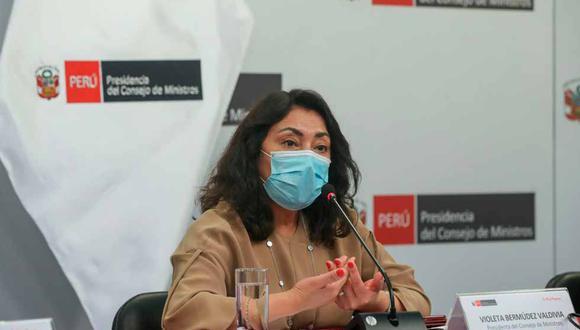Violeta Bermúdez aseguró que las negociaciones para comprar la vacuna rusa están avanzadas | Foto: PCM / Referencial